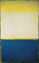 No 6 Yellow White Blue Over Yellow on Gray 1954 - Mark Rothko