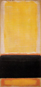 No 4 Yellow Black Orange on Yellow Untitled 1953 - Mark Rothko