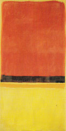 Untitled Red Black Orange Yellow on Yellow 1953 - Mark Rothko
