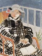 Mlle Matisse in a Scotch Plaid Coat 1918 - Henri Matisse