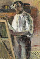 Self Portrait at the Easel 1900 - Henri Matisse
