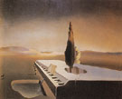 Necrophilic Spring Flowing from a Grand Piano 1933 - Salvador Dali