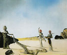 Three Young Surrealist Woman Holding in Their Arms the Skins of an Orchestra 1936 - Salvador Dali