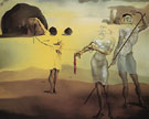 Enchanted Beach with Three Fluid Graces 1938 - Salvador Dali