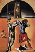 Poetry of America The Cosmic Athletes 1943 - Salvador Dali