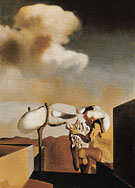 Average Atmospherocephalic Bureaucrat in the Act of Milking a Cranial Harp 1933 - Salvador Dali