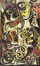Masqued Image 1938 - Jackson Pollock