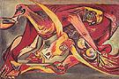 Man Bull Bird 1938 - Jackson Pollock