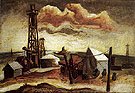Camp with Oil Rig - Jackson Pollock