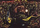 Bald Woman with Skeleton 1938 - Jackson Pollock