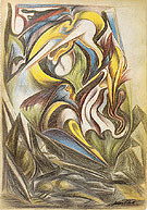 Untitled From Sketchbook 1938 - Jackson Pollock