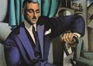 Portrait of the Marquis of Afflito 1925 - Tamara de Lempicka