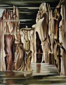 Surrealist Landscape - Tamara de Lempicka
