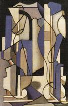 Blue and Black Abstract Composition 1953 - Tamara de Lempicka