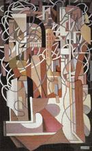 Abstract Composition with Balustrade 1953 - Tamara de Lempicka