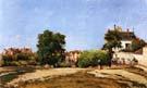 The Crossroads Pontoise 1872 - Camille Pissarro