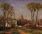 Entrance to The Village of Voisins 1872 - Camille Pissarro