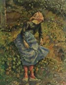 Peasant Girl with a Stick 1881 - Camille Pissarro