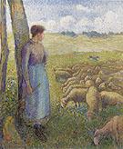 Shepherdress 1887 - Camille Pissarro
