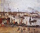 Port of Dieppe Rainy Morning 1902 - Camille Pissarro