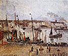 Port of Dieppe Rainy Morning 1902 - Camille Pissarro