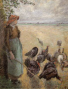 Turkey Girl 1884 - Camille Pissarro