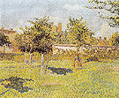 Woman in a Meadow Spring Eragny sur Epte 1888 - Camille Pissarro