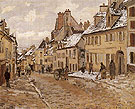Pontoise the Road to Gisors in Winter 1873 - Camille Pissarro