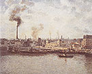 Quai Saint Sever at Rouen 1896 - Camille Pissarro