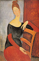 Portrait of the Artists Wife Jeanne Hebuterne 1918 - Amedeo Modigliani