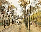 The Bouleavard Des Fosses Pontoise 1872 - Camille Pissarro