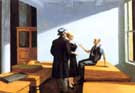 Confernce At Night 1949 - Edward Hopper