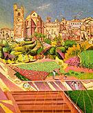 Roig the Church and the Village 1919 - Joan Miro