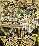 The Table Still Life with Rabbit 1920 - Joan Miro