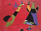 Personages on a Red Ground 1938 - Joan Miro