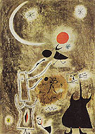 Woman and Bird in Front of the Sun 1942 - Joan Miro