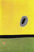 The Larks Wing Encircled with Golden Blue Rejoins the Heart of the Poppy Sleeping on the Diamond Studded Meadow 13 3 1967 - Joan Miro