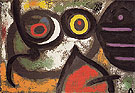 Woman and Birds 3 1 1966 - Joan Miro