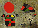 The Smile of the Flamboyant Wings 1953 - Joan Miro