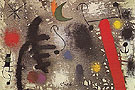 Lovers Coupled in the Night 3 1 1966 - Joan Miro