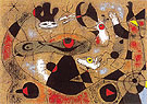 A Dew Drop Falling from a Birds Wing Wakes Rosalie Who Has Been Asleep in the Shadow of a Spiders Web 1939 - Joan Miro