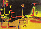 Man and Woman in Front of a Pile of Excrement 1936 - Joan Miro