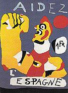 Aidez IEspagne Help Spain 1937 - Joan Miro