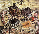 Still Life with Coffee Mill 1918 - Joan Miro