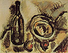 Fruit and Bottle 1915 - Joan Miro