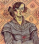 Portrait of Juanita Obrador 1918 - Joan Miro
