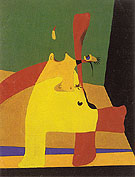 Flame in Space and Female Nude 1932 - Joan Miro