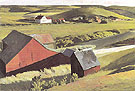 Cobbs Barns and Distant Houses c1930 - Edward Hopper
