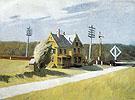 Railroad Crossing c1922 - Edward Hopper