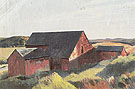 Cobbs Barns South Truro c1930 - Edward Hopper